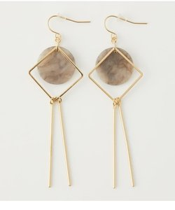 MARBLE SQUARE BAR EARRINGS