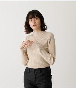 SNOWY HIGH NECK KNIT TOPS