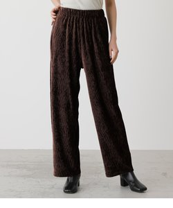 SHINY VELOR WIDE PANTS