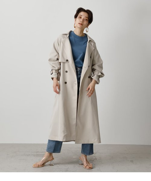SINGLE FLAP TRENCH COAT