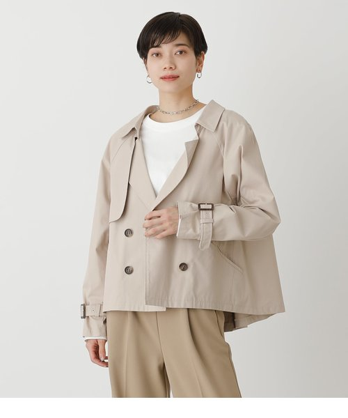 FLARE SHORT TRENCH COAT