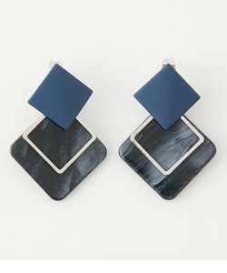 SQUARE PARTS EARRINGS