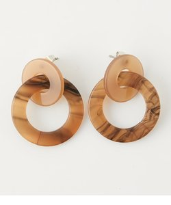 COLOR CONTRAST ROUND EARRINGS