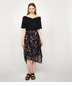 DARK FLOWER PLEATS スカート
