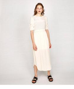 EYELET LACE ドレス
