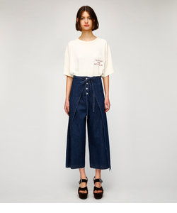 FRONT TIE WIDE DENIM パンツ