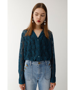 OPEN COLLAR LACE シャツ