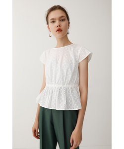 EMBROIDERY LACE FLARE トップス