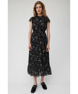 VINTAGE FLOWER CHIFFON ドレス