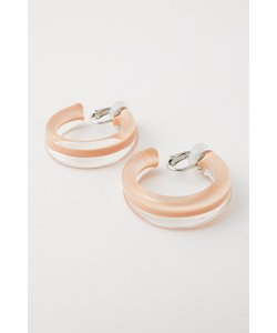 CLEAR TUBE EARRINGS