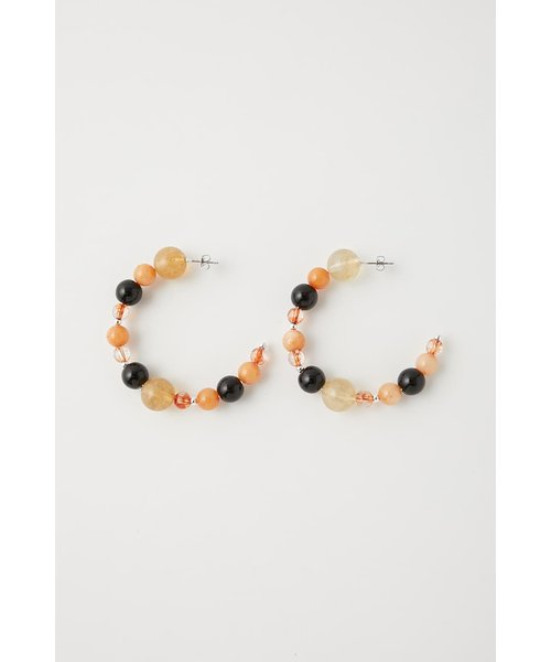 HOOP STONE EARRINGS