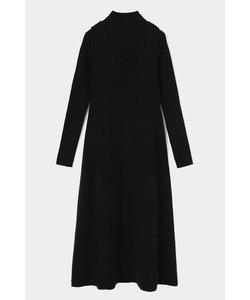 LAYERED FLARE KNIT ドレス