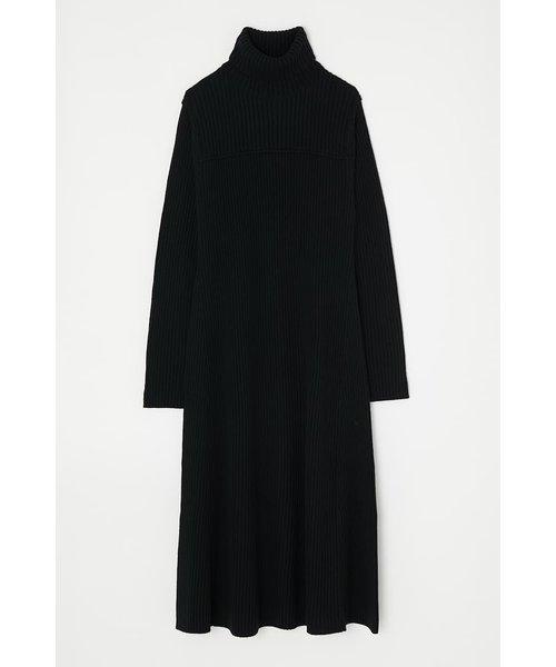RIB KNIT FLARE MAXI ドレス