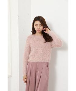 Lame Mall Shaggy Knit TOP