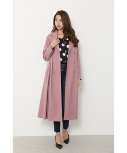Big collar back lace trench CT