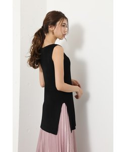 Glossy Knit Long TOP-R