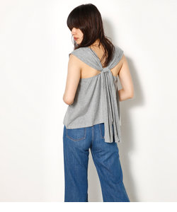 BACK TIE CUT TOPS