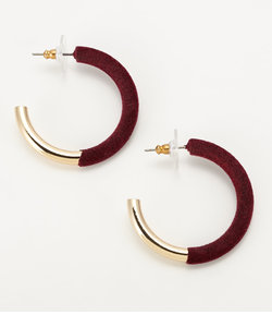 VELVET HOOP PIERCE