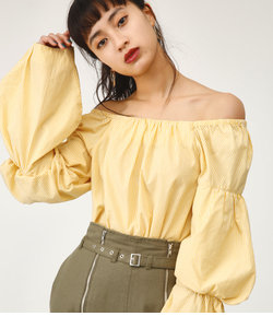WENDY STRIPE TUCK SLEEVE TOPS