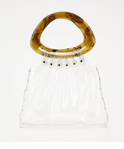 OVAL HANDLE CLEAR BAG