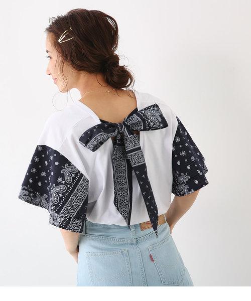 バンダナスリーブ バックリボン Tシャツ