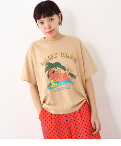 LAZY CLUB ビッグ Tシャツ