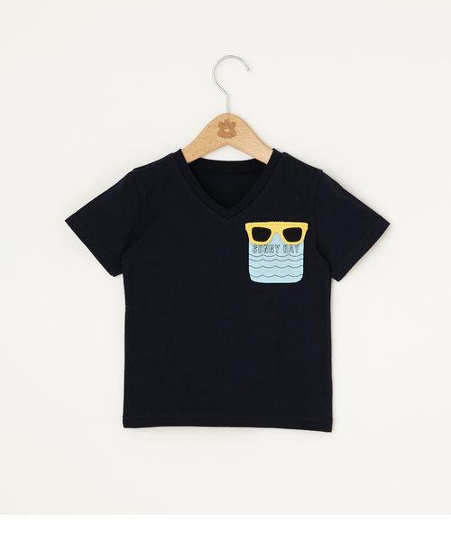 キッズ アソートポケット Vネック Tシャツ
