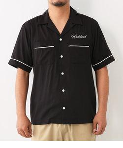 バック刺繍 ボーリング シャツ