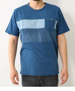 インディゴ スイッチング Tシャツ