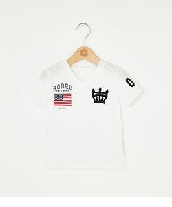 キッズ クラウン 刺繍 Vネック Tシャツ