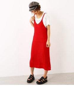 リブ ニット ワンピース & Tシャツ セット