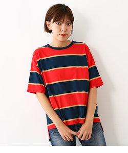 ウォッシュ ボーダー Tシャツ