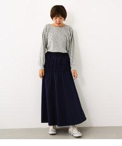 2WAY ギャザー マキシ スカート