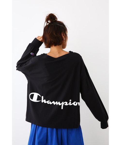 Champion ボリュームスリーブ L/S Tシャツ