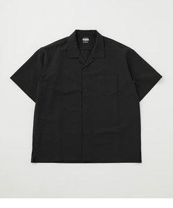 シアサッカーオープンカラーシャツ