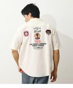 ワッペンミリタリー半袖シャツ