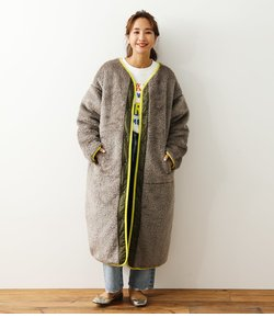 Faux Fur Quilt Reversible コート
