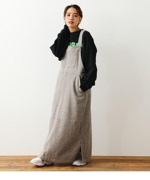 コットンツィードジャンパースカート