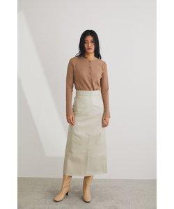 フェイクレザーミディアムタイトスカート