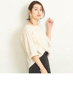 BY∴ ドライコットンドルマン6分袖カットソー