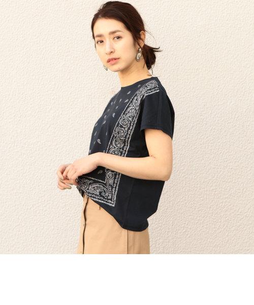 BY∴ ペイズリー刺繍Tシャツ