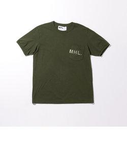 <MHL.> 1POCKET LOGO TEE/Tシャツ