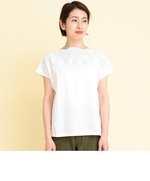 【WEB限定】by ※∴刺繍レースボートネックカットソー