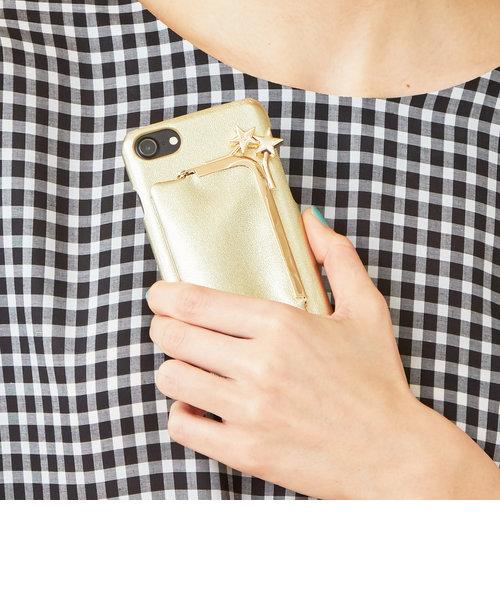3749e5152318ea ... 【WEB限定】<Hashibami>レザーガマグチポーチ iphone7/8/6/ ...