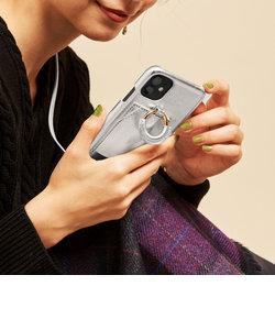 【WEB限定】∴<Hashibami>レザーダブルリングiPhone X/XS/11Proケース -3WAY-
