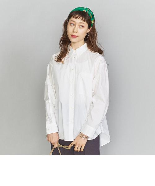 BY コットンタイプライターレギュラーカラーシャツ