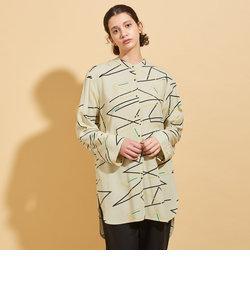 BY∴ ネオンプリントバンドカラーシャツ