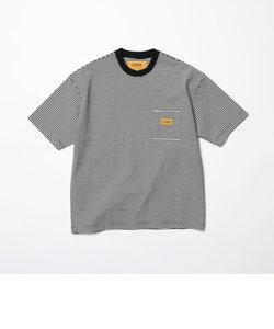 【別注】 <UNIVERSAL OVERALL(ユニバーサルオーバーオール)> 1POC BORDER TEE/Tシャツ