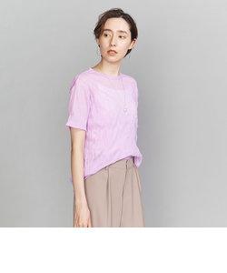 BY ワッシャープリーツシフォンTシャツ