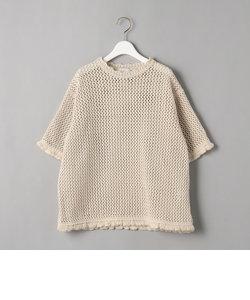<TAN>メッシュニットTシャツ